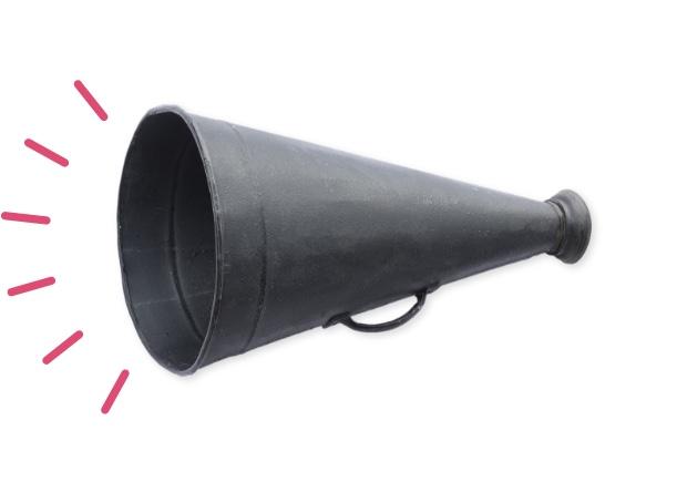 Get noticed megaphone